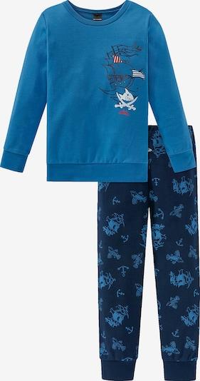 SCHIESSER Schlafanzug in blau / dunkelblau / weiß, Produktansicht