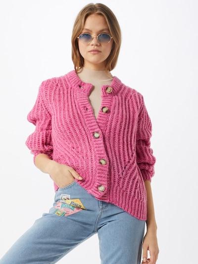 SISTERS POINT Cardigan 'Lya-CA' en rose, Vue avec modèle