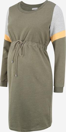 MAMALICIOUS Robe en jaune / gris chiné / olive, Vue avec produit