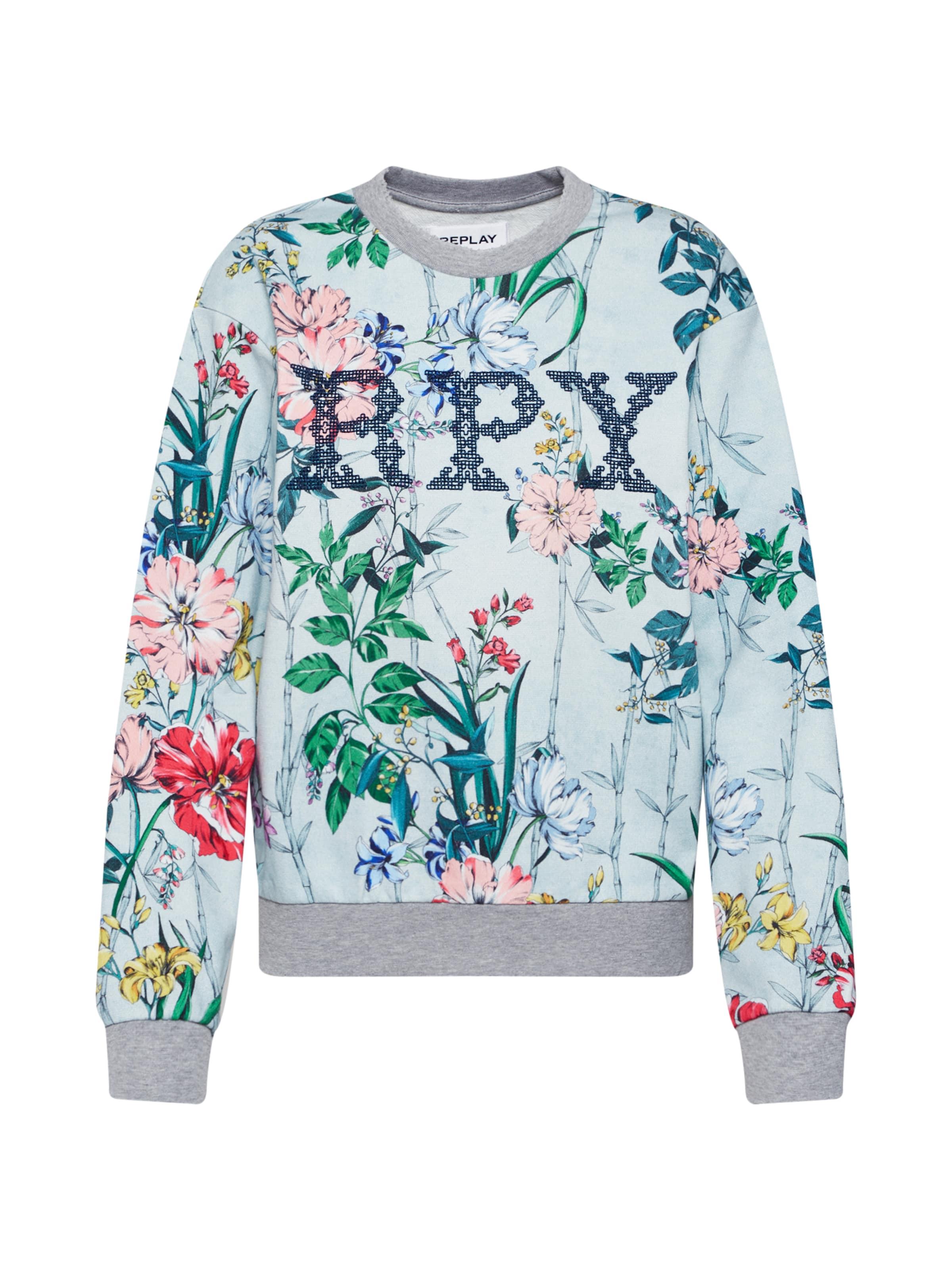 HellblauMischfarben Sweatshirt In Replay In Sweatshirt In HellblauMischfarben Replay Replay Sweatshirt vwON0m8n