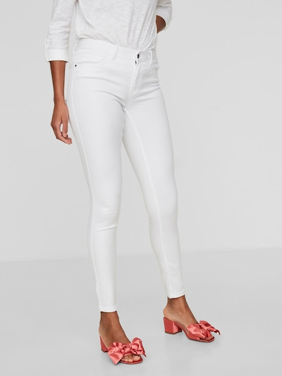 VERO MODA Seven White NW Shape-Up Skinny Fit Jeans in weiß, Modelansicht