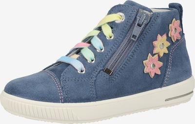 SUPERFIT Sneaker in blue denim / hellblau / gelb / rosa, Produktansicht