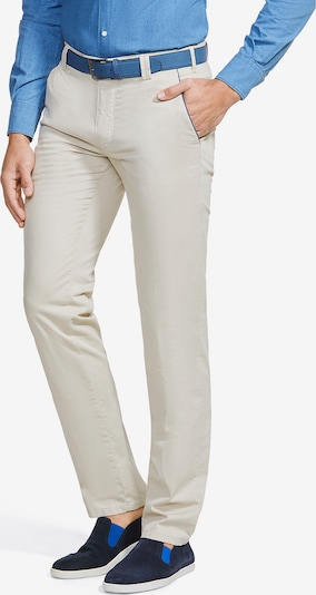 Meyer Hosen Moderne Flatfront Chino New York in nude, Produktansicht