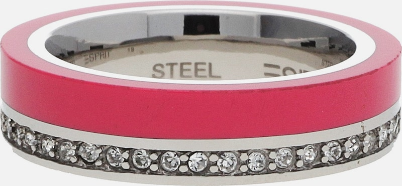 ESPRIT Fingerring Silber/Pink Marin 68 ESRG11565B