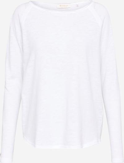 Rich & Royal Longsleeve mit offenen Kanten in weiß, Produktansicht