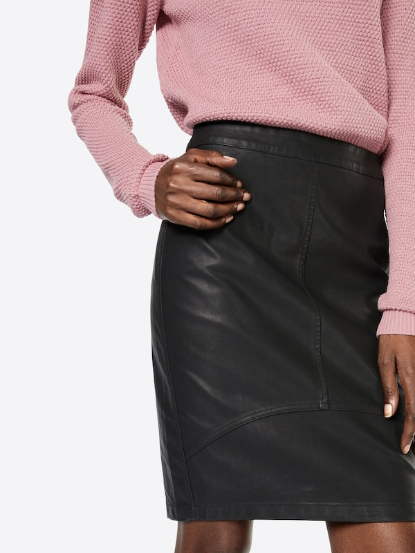 Minimum Kunstlederrock Tilla Skirt