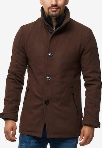 Manteau d'hiver 'Brittany' INDICODE JEANS en marron