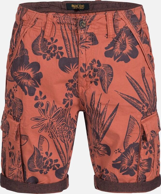INDICODE JEANS Shorts 'Albert' in dunkelblau   koralle  Freizeit, schlank, schlank