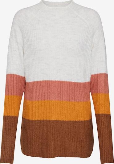 VILA Pullover 'VIKATAY' in braun / hellgrau / orange / rosa, Produktansicht
