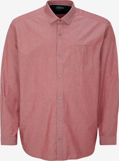 s.Oliver Men Big Sizes Hemd in pastellrot, Produktansicht