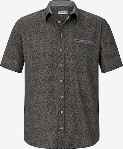 Shirtmaster Hemd 'Autumnleaves' in hellbraun / dunkelgrau, Produktansicht
