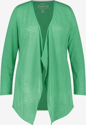 SAMOON Jacke Gewirke Offene Jerseyjacke mit Zipfelsäumen in grün, Produktansicht