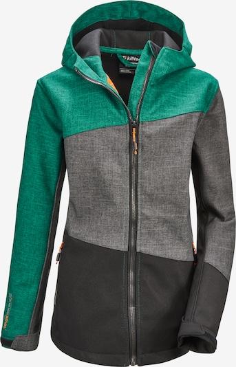 KILLTEC Sportjacke  'Lynge  JCKT B' in grau / dunkelgrau / smaragd, Produktansicht