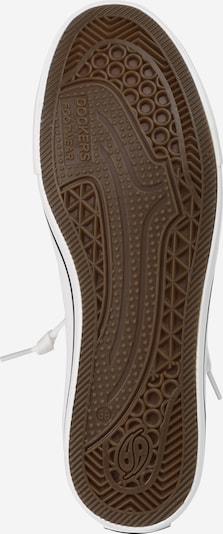 Dockers by Gerli Sneaker mit Metallic-Look in silber / weiß: Ansicht von unten
