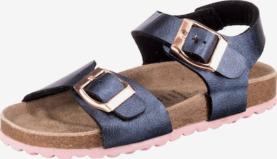 SUPERSOFT by Indigo Sandalen in blau / braun, Produktansicht