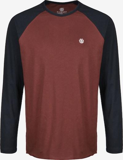 ELEMENT Shirt in nachtblau / pastellrot, Produktansicht
