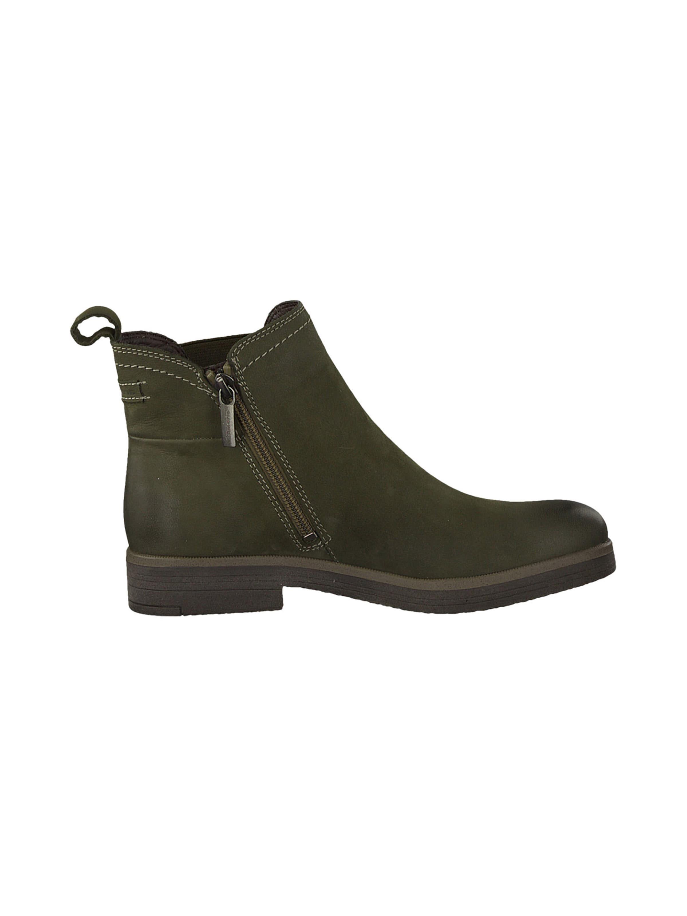 TAMARIS Chelsea boots i mörkgrön