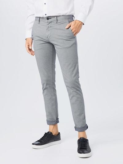 BOSS Chino nohavice - modrosivá: Pohľad spredu