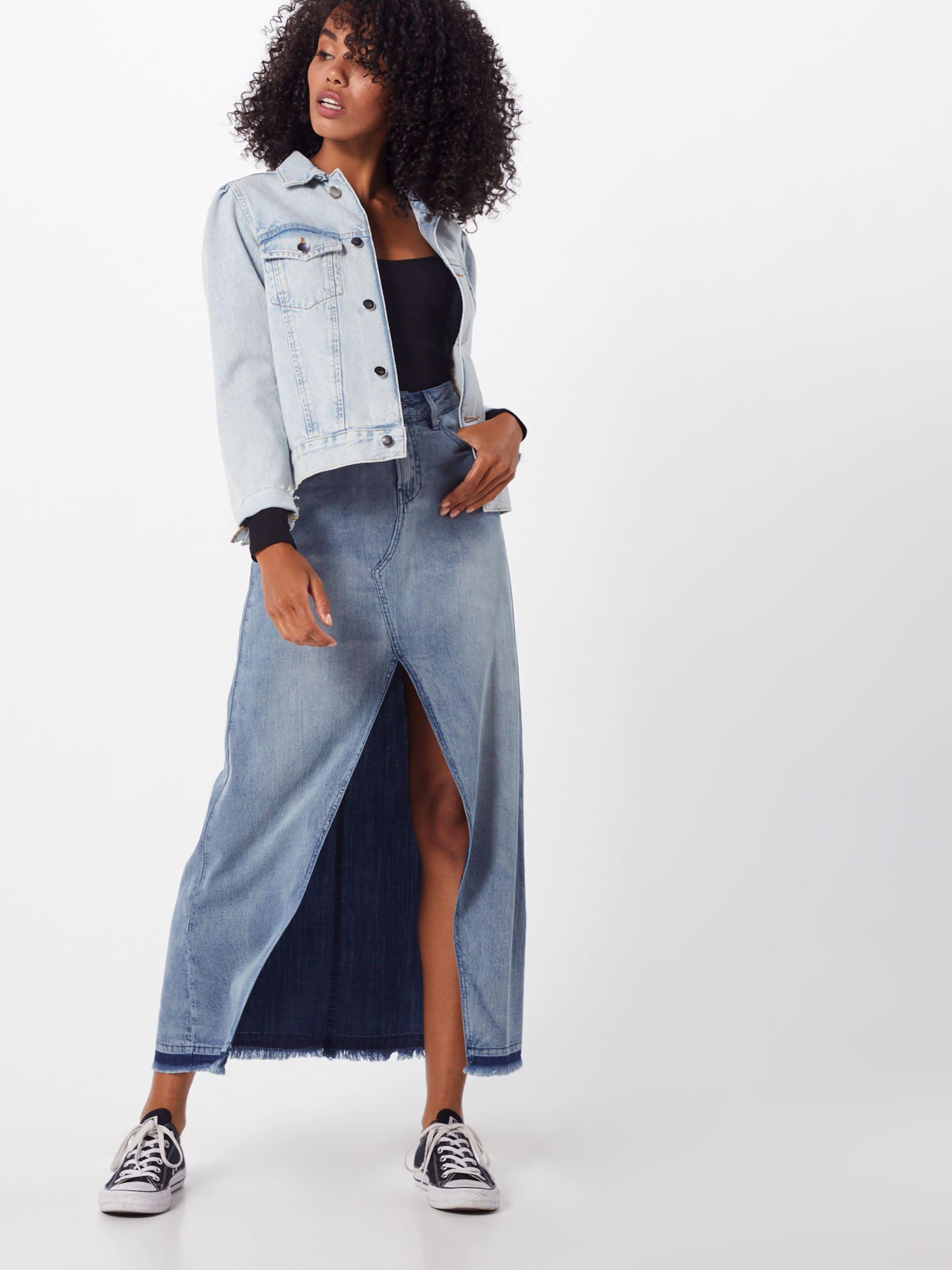 Denham Bleu Tiv' Jupe Denim 'festival Skirt En f6y7gb