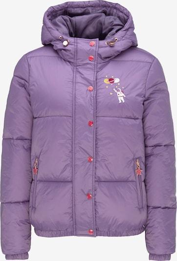 MYMO Winterjas in de kleur Lichtlila / Gemengde kleuren / Neonroze, Productweergave