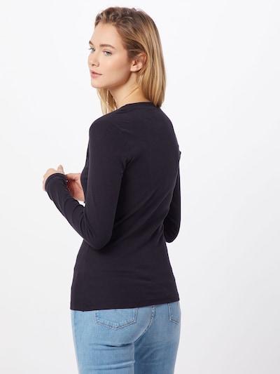 LEVI'S Sweatshirt 'LS BABY TEE' in de kleur Rood / Zwart / Wit: Achteraanzicht