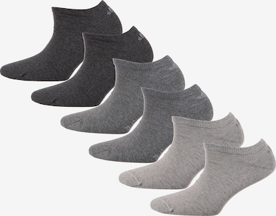 s.Oliver Socken in grau / hellgrau / dunkelgrau, Produktansicht