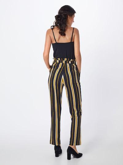 SOAKED IN LUXURY Spodnie 'Malia Pants' w kolorze beżowy / żółty / czarnym: Widok od tyłu