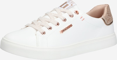 Dockers by Gerli Sneakers low in Rose gold / White, Item view