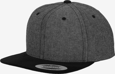 Flexfit Cap 'Chambray-Suede' in basaltgrau / schwarz, Produktansicht