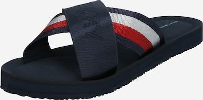 TOMMY HILFIGER Pantofle - tmavě modrá / světle červená / bílá, Produkt
