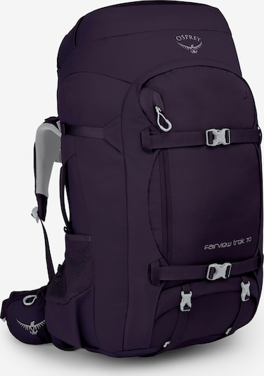 Osprey Reiserucksack 'Fairview Trek' in dunkellila, Produktansicht