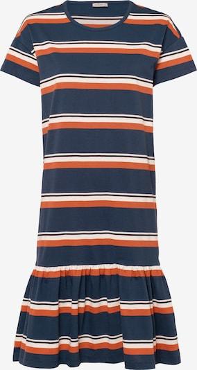 Cross Jeans Kleid in dunkelblau / dunkelorange / naturweiß, Produktansicht