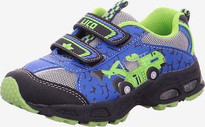 LICO Sneaker 'LOADER' in royalblau / hellgrün / schwarz / weiß, Produktansicht