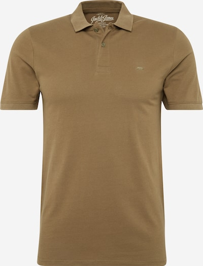 JACK & JONES Poloshirt 'JJEBASIC POLO SS' in oliv, Produktansicht
