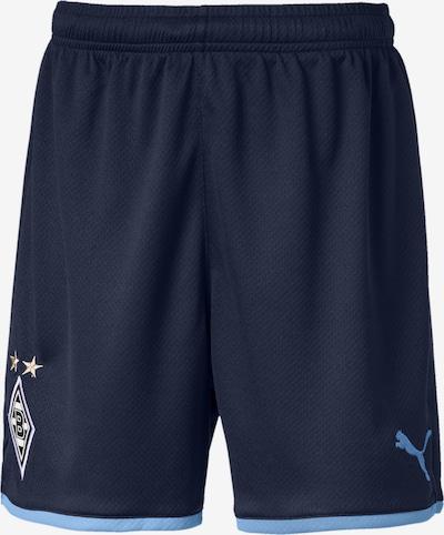 PUMA Sportbroek 'Borussia Mönchengladbach' in de kleur Blauw / Donkerblauw / Goud, Productweergave