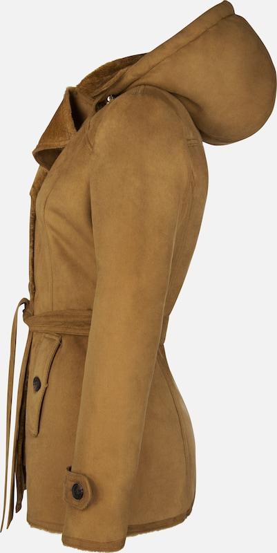 Roosevelt Kurzmantel mit abnehmbarer Kapuze + Gürtel