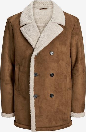 JACK & JONES Manteau d'hiver en noisette / blanc, Vue avec produit