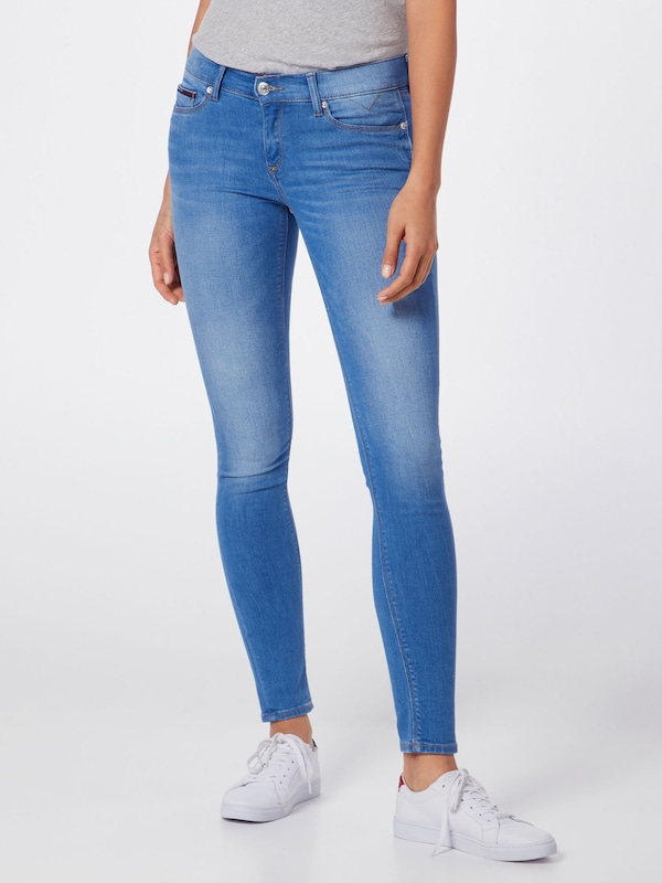 Tommy Jeans Jeans 'Skinny Nora' in blue denim: Frontalansicht
