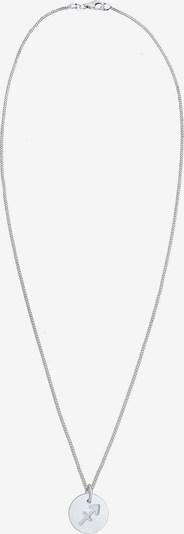 ELLI Ketting 'Schütze' in de kleur Zilver: Vooraanzicht