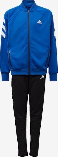 ADIDAS PERFORMANCE Trainingsanzug in blau / schwarz / weiß, Produktansicht