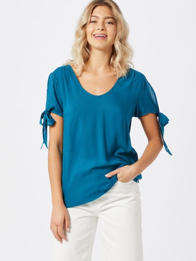 Q/S designed by Blouse in de kleur Petrol, Modelweergave