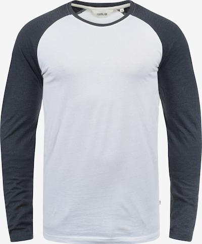 !Solid Rundhalsshirt 'Bastien' in dunkelblau / weiß, Produktansicht