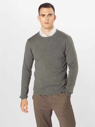 Casual Friday Pullover 'Karl' in graumeliert: Frontalansicht