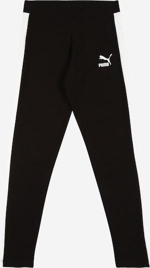 PUMA Sportovní kalhoty 'Classics T7' - černá / bílá, Produkt
