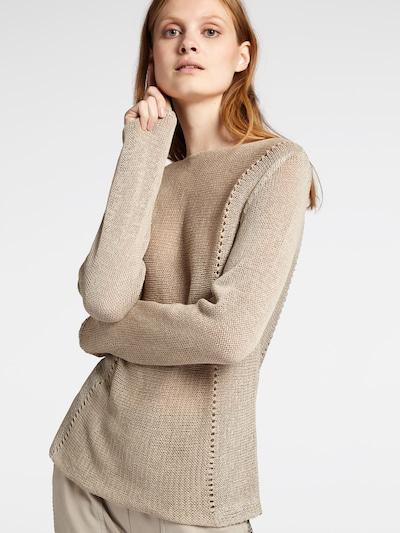Sandwich Pullover in beigemeliert, Modelansicht