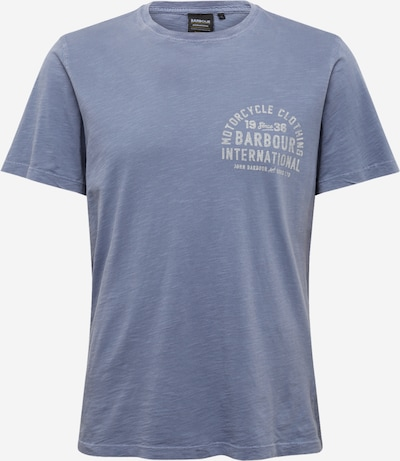 Barbour International T-Shirt 'Visor' en bleu-gris / blanc, Vue avec produit