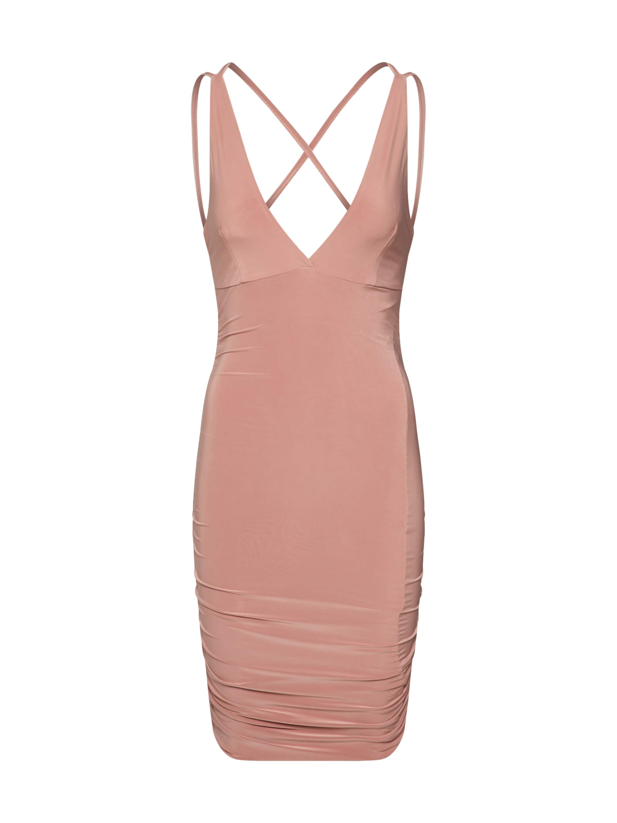 'slinky Ruched Back Side Missguided Jurk Bodycon' In Rosa rxBQCoeWd