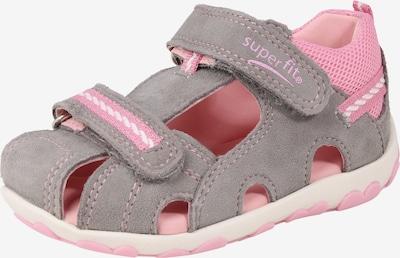 SUPERFIT Schuhe 'Fanni' in grau / rosa, Produktansicht