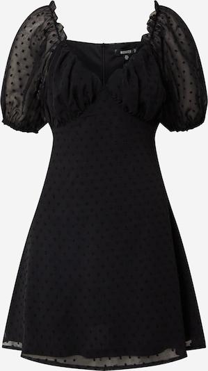 Missguided Obleka 'MILKMAID SKATER DOBBY' | črna barva, Prikaz izdelka