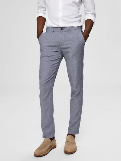 SELECTED HOMME Hose in blaumeliert, Modelansicht
